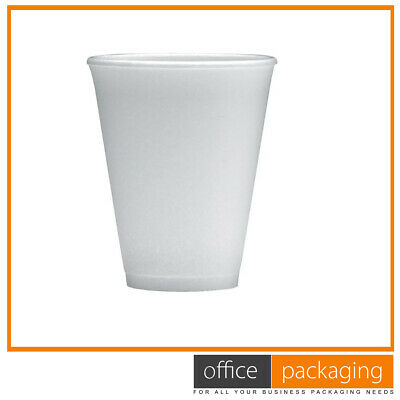 Dart Polystyrene Foam Thermal Cups Insulated Cup For Hot Drinks (200ml) • 6.45£