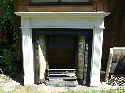 Victorian Style Cast Iron Fireplace Complete With Surround, Grate And Backing • 25£