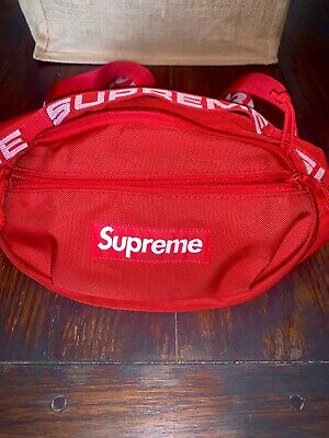 $ CDN186.60 • Buy Supreme Red Waist Bag Fanny Pack SS18 ***receipt In Photos PRISTINE CONDITION