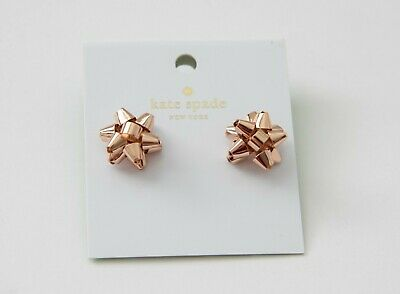 $ CDN28.56 • Buy Kate Spade Bourgeois Bow Rose Gold Stud Earrings NWT