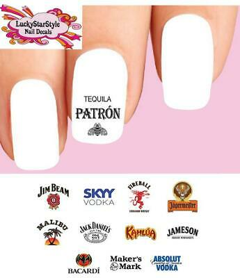 £2.84 • Buy Waterslide Alcoholic Nail Decals Set Of 48 - Alcohol Spirits Liquor Assorted #1