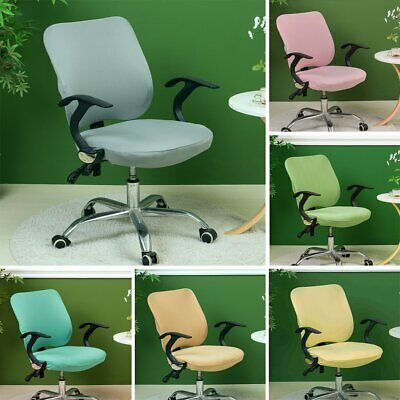 AU15.99 • Buy Solid Color Office Computer Chair Covers Rotate Swivel Seat Slipcover Protector