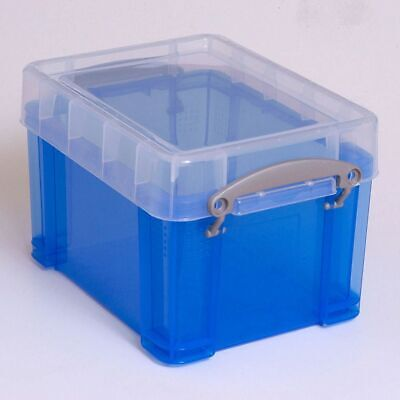 £8.50 • Buy Really Useful Strong Blue Plastic 3 Litre CD / DVD  Storage Box