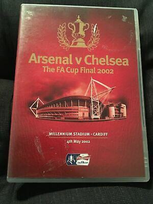 FA Cup Final Arsenal Vs V Chelsea 2002 DVD - FAST FREE UK P&P • 54.99£
