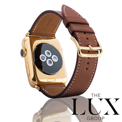 $ CDN1631.54 • Buy Hermes Series 4 Apple Watch 44mm Stainless Steel Single Tour Fauve 24k Gold