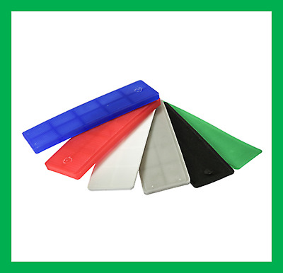 Glass Frame Plastic Packers Shims Spacers UPVC Windows Doors Kitchens 1mm To 6mm • 1.90£