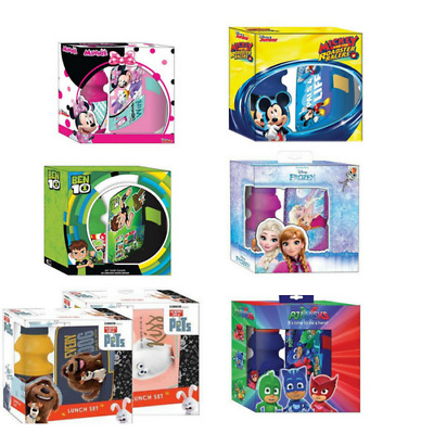 Lunch Box Set Lunch Container Water Bottle Set Kids Children Movie Characters • 4.70£