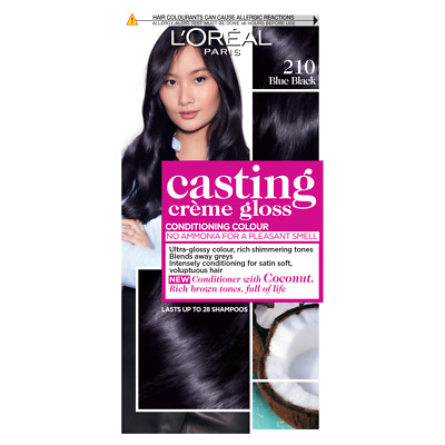 L'Oreal L'Oreale Gloss 210 Blue Black Semi Permanent Hair Dye - 1 Kit • 7.80£