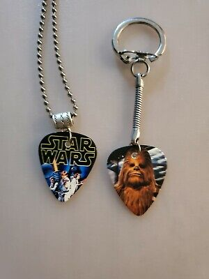 $ CDN9.99 • Buy Handmade Chewy Guitar Pick Necklace And Keychain Set