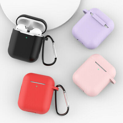 $ CDN2.67 • Buy AirPods Silicone Case Cover Protective Skin For Apple Airpod Charging + Keychain