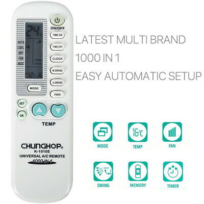 AU8.79 • Buy Universal Aircon Remote Replacement AC Air Conditioner Control 1 In 1000 Brands