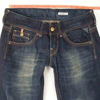 Ladies Womens Replay WV580 JANICE Slouch Blue Jeans W28 L32 UK Size 8 • 36.99£