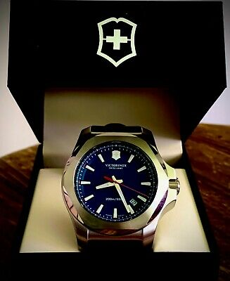 Victorinox INOX Blue Mens Swiss Army Watch Rubber Strap New  • 123.79£