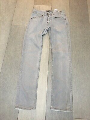 Mens Levis 519 Slim Light Grey Jeans Size 28w 30l • 13.95£
