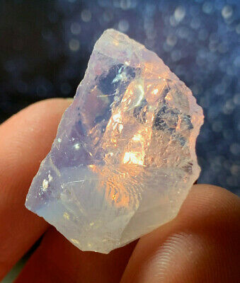 $30 • Buy Rare!!! Orange Flash Scorolite Opalized Lavender Rose Quartz Crystal Rio Grande
