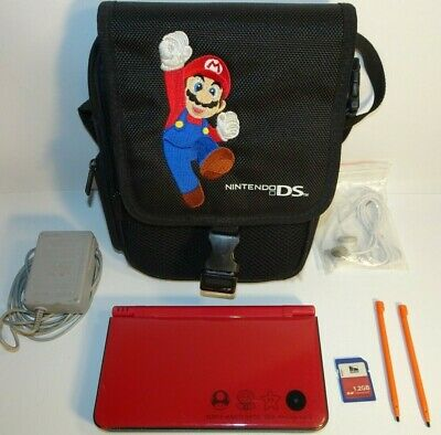 $58 • Buy NINTENDO DSi XL SUPER MARIO BROS 25th ANNIVERSARY EDITION CHARGER CASE 1.2 GB SD