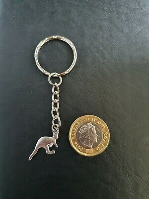 Silver Australian Kangaroo Key Ring Animal Australia Holiday Gift  • 3.49£