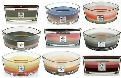 $32.95 • Buy WoodWick Hearthwick Flame Trilogy Ellipse Jar Candle ~ Select Your Favorite(s)