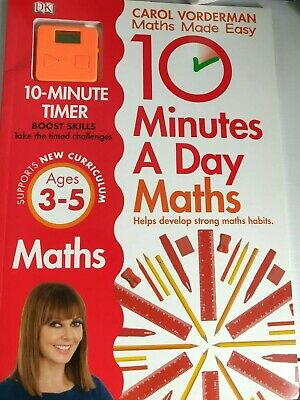 Carol Vorderman Books Maths Made Easy Age 3-5  With A Timer LAST 1 SPECIAL OFFER • 5.50£