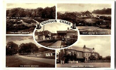 Postcard Cannock Chase Milford Multiview Unposted Station | Golf House The Green • 3.99£