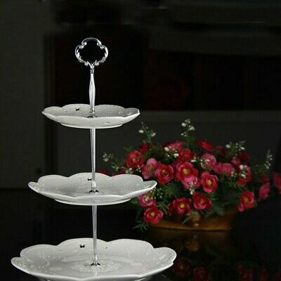 2x Three Tier Cake Plate Stand Set Handle Fitting Hardware Rod Wedding Magic Kit • 9.39£