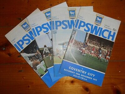 £2.25 • Buy 1972-73 IPSWICH TOWN HOME PROGRAMMES - Your Choice - FREE Postage