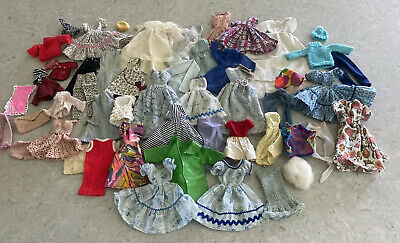 $ CDN136.06 • Buy Large Lot Of Vintage 60s 70s Barbie Skipper & Same Size Doll Clothes Dresses +++