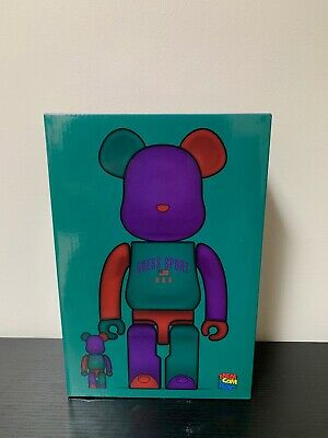 $195.75 • Buy MEDICOM TOY BE@RBRICK Guess Sport Logo 100% & 400% Japan SEALED