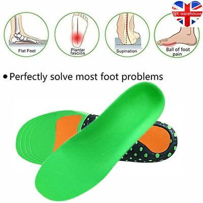 1 Pair Unisex Memory Foam Insoles Inner Sole Shoe Soft Foot Orthopaedic Support • 5.79£