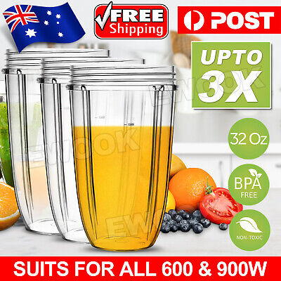 AU24.95 • Buy 32oz COLOSSAL CUP LARGE TALL For NUTRIBULLET Nutri Bullet 600 900w Blender Model