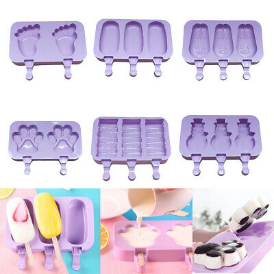 1Pc DIY Silicone Frozen Ice Cream Mold Juice Popsicle Maker Ice Lolly Mould • 3.54£