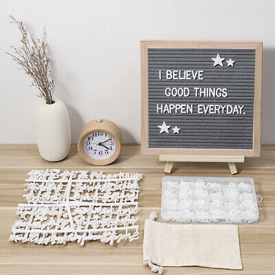 Wooden Frame Message Boards Changeable Felt Letter Board With Symbol And Numbers • 14.66£