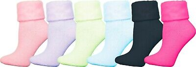 $15.99 • Buy Womens Soft Fluffy House Socks, 6 Pairs Cozy Thermal Plush Sock For Home & Bed
