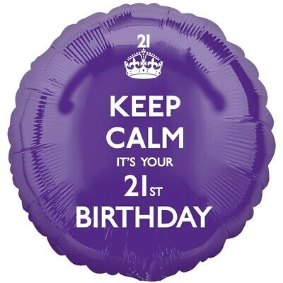 Keep Calm It's Your 21st Birthday Purple Foil Balloon 17  By Anagram  • 3.29£