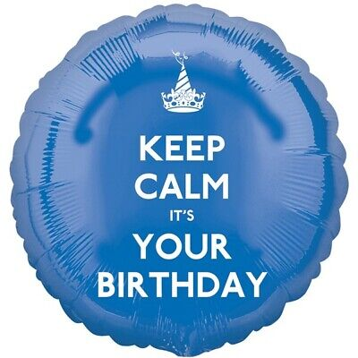 Sale! Keep Calm It's Your Birthday Blue Foil Balloon 17  By Anagram  • 3.29£