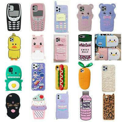AU5.99 • Buy Case For IPhone 11 Pro Max XR 7 8Plus 3D Disney Cartoon Soft Silicone Kids Cover