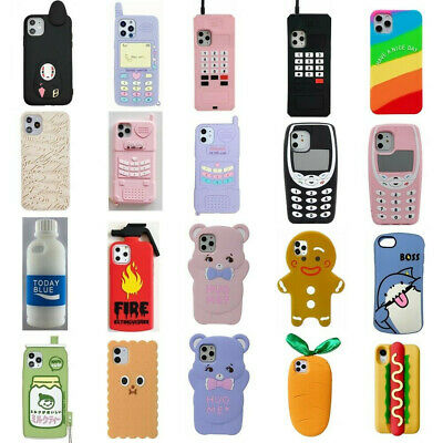 AU5.99 • Buy Case Cover For IPhone 11 Pro Max XR 8 7 6Plus Cute 3D Cartoon Silicone Kids Skin