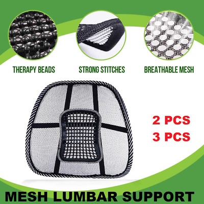 AU16.20 • Buy Mesh Back Rest Lumbar Support Office Chair Van Car Seat Home Pillow Cushion