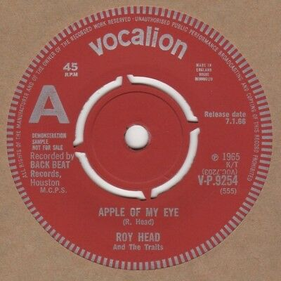 Roy Head Apple Of My Eye Vocalion Demo V-P 9254 Soul Northern Motown • 30£