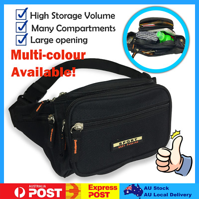 AU15 • Buy Running Sport Bum Bag Fanny Pack Travel Waist Money Belt Zip Hiking Pouch Wallet