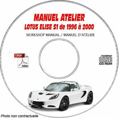 $ CDN41.22 • Buy ELISE S1 96-00 - Manuel Atelier CDROM LOTUS Anglais Expédition - 3 Euros, Suppo