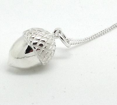 £35.99 • Buy Acorn Necklace Pendant, Solid Sterling Silver, New, Adjustable Chain.