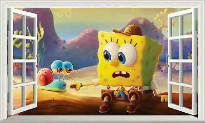 SpongeBob SquarePants 3D Magic Window Wall Art Sticker Self Adhesive Vinyl V18* • 11£