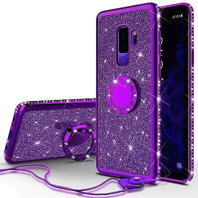 $ CDN6.91 • Buy Bling Diamond Ring Holder Case For Samsung Galaxy S21 S9 S8 S10 A8 A6 Note 20