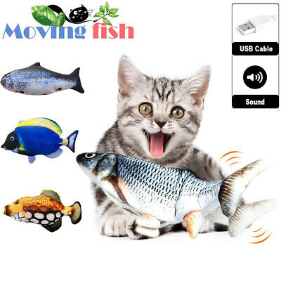 AU15.99 • Buy Realistic Electric Moving Fish Toys Funny Cat Kicker Toys For Cat Catfish