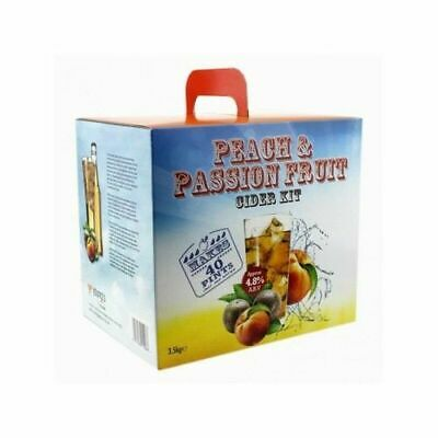 Youngs Peach & Passion Fruit Cider Kit - 40 Pints - Homebrew Beer Brewing (EPHB) • 28.98£