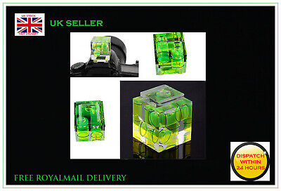£4.99 • Buy 3 Axis Hot Shoe Cover Spirit Level Triple Bubble Level For Nikon Canon Pentax DS