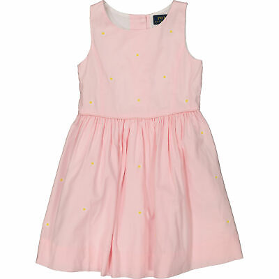 POLO RALPH LAUREN Girls' Skater Dress, Pink W. Daisy Embroidery, 3 Years RRP £99 • 18.99£