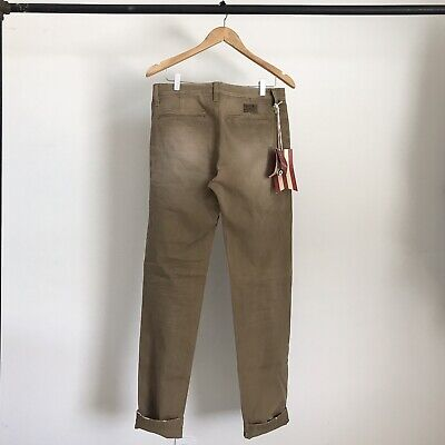Brand New Prps Goods And Co Selvedge Chino Pants Brown Indigo Japan Officer 30 • 56.44£