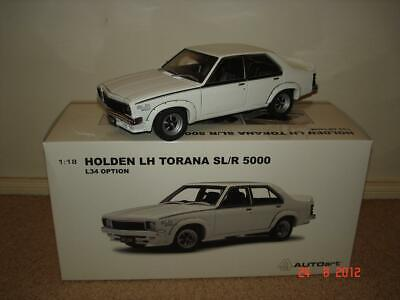 AU599.95 • Buy 1:18 Biante Holden LH L34 SL/R 5000 Torana Glacier White. Very Limited Edition